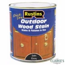 Rustins Outdoor Woodstain Satin Ebony 500 ml