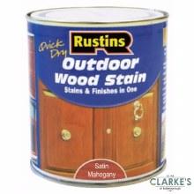 Rustins Outdoor Woodstain Satin Mahogany 500 ml