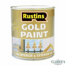 Rustins Quick Dry Gold Paint 250 ml