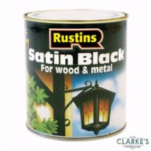 Rustins Satin Black Paint for Wood and Metal  2.5 Litre