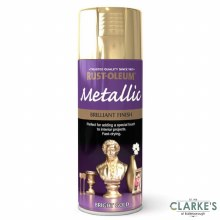 Rust-Oleum Metallic Spray Paint Bright Gold 400 ml