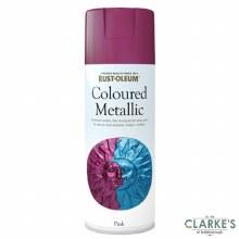 Rust-Oleum Coloured Metallic Spray Paint Pink 400 ml