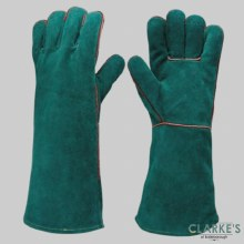 SafeLine Green Welders Glove Gauntlet