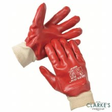 SafeLine PVC Coated Gloves with Knitted Wrist