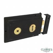 Securit Black Rim Lock 50mm