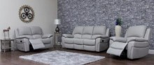 Serena leather sofa perl grey