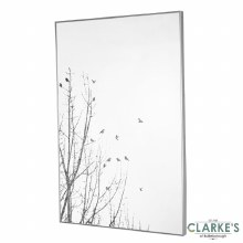 Forest Silhouette Wall Mirror Silver