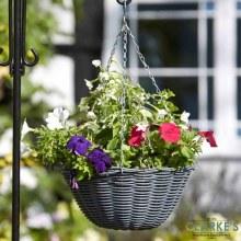 """Slate Hanging Flower Planting Basket 14"""""""