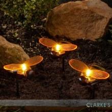 Bee Solar Stake Light | Pack of 3
