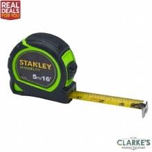Stanley Hi-Vis Tylon Tape 5m