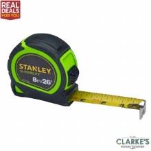 Stanley Hi-Vis Tylon Tape 8m
