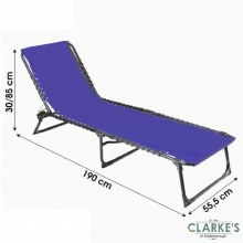 Folding Beach Bed - Sun Lounger Blue
