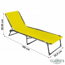 Folding Beach Bed - Sun Lounger Mustard