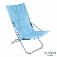Comfy Folding Garden - Camping Chair Blue