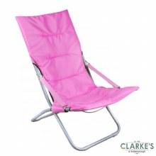 Comfy Folding Garden - Camping Chair Pink