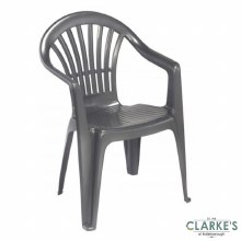 Plastic Garden Chair Grey