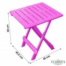 Folding Garden Side Table Pink