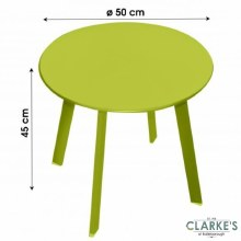 Small Round Garden Side Table Green