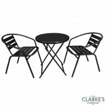 Garden Bistro Set - Table and 2 Chairs