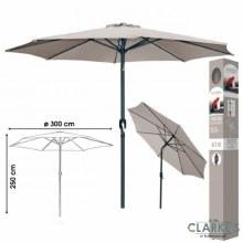 Garden Parasol Crank & Tilt Taupe 3 Meter