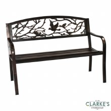 SupaGarden Bird Back Metal Garden Bench