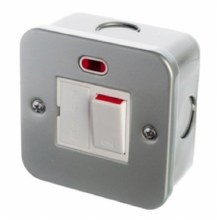 13A Switched Fused Spur with Neon Metal Clad