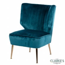 Velvet Accent Chair Teal