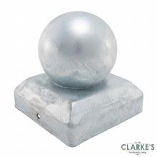 Timco Fence Post Ball Cap | Galvanised 100 x 100 mm