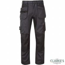 Tuff Stuff X-Motion 725 Work Trousers Grey/Black W30 L30