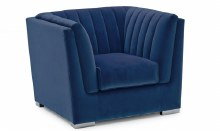 Upton Blue Accent Chair