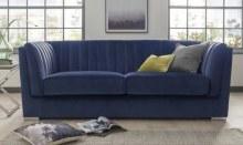 Upton 3 Seater Velvet Sofa Blue