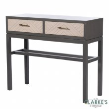 Vanessa Stone Grey 2 Drawer Console Table