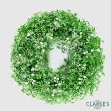 White Mistletoe Wreath 45cm