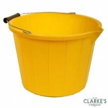 Yellow Heavy Duty 3 Gallon Bucket