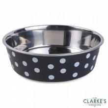 Stainless Steel Navy Polka Bowl 17 cm
