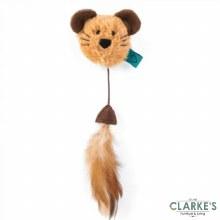 Nip-It Catnip Mouse Head & Feather Cat Toy