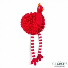 Red Noodly Partridge Dog Toy