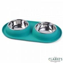 Twin Bowl Dog Feeding Tray