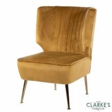 Velvet Accent Chair Mustard