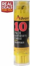Advent Carpenter's Pencils 10 Pack