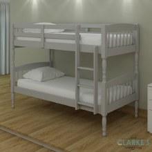 Alex solid wood bunk bed grey