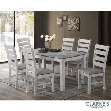 Alicante dining table set. Table and 6 chairs