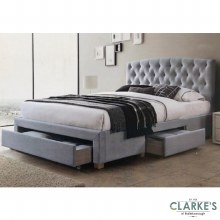 Alice 4ft6 Double Bed Frame with Drawers