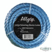 Allgrip 10 mm Blue Polypropylene Rope 30 Meter