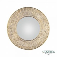 Amira Round Gold Mirror 80cm
