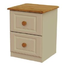 Annagh Ivory 2 Drawer Bedside Locker