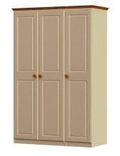 Annagh Ivory Triple Wardrobe