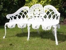 Coalbrook White Garden Bench
