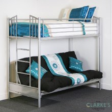 Atlanta futon bunk bed with mattresses
