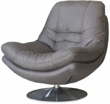 Axis Swivel Occasional Chair Dark Grey